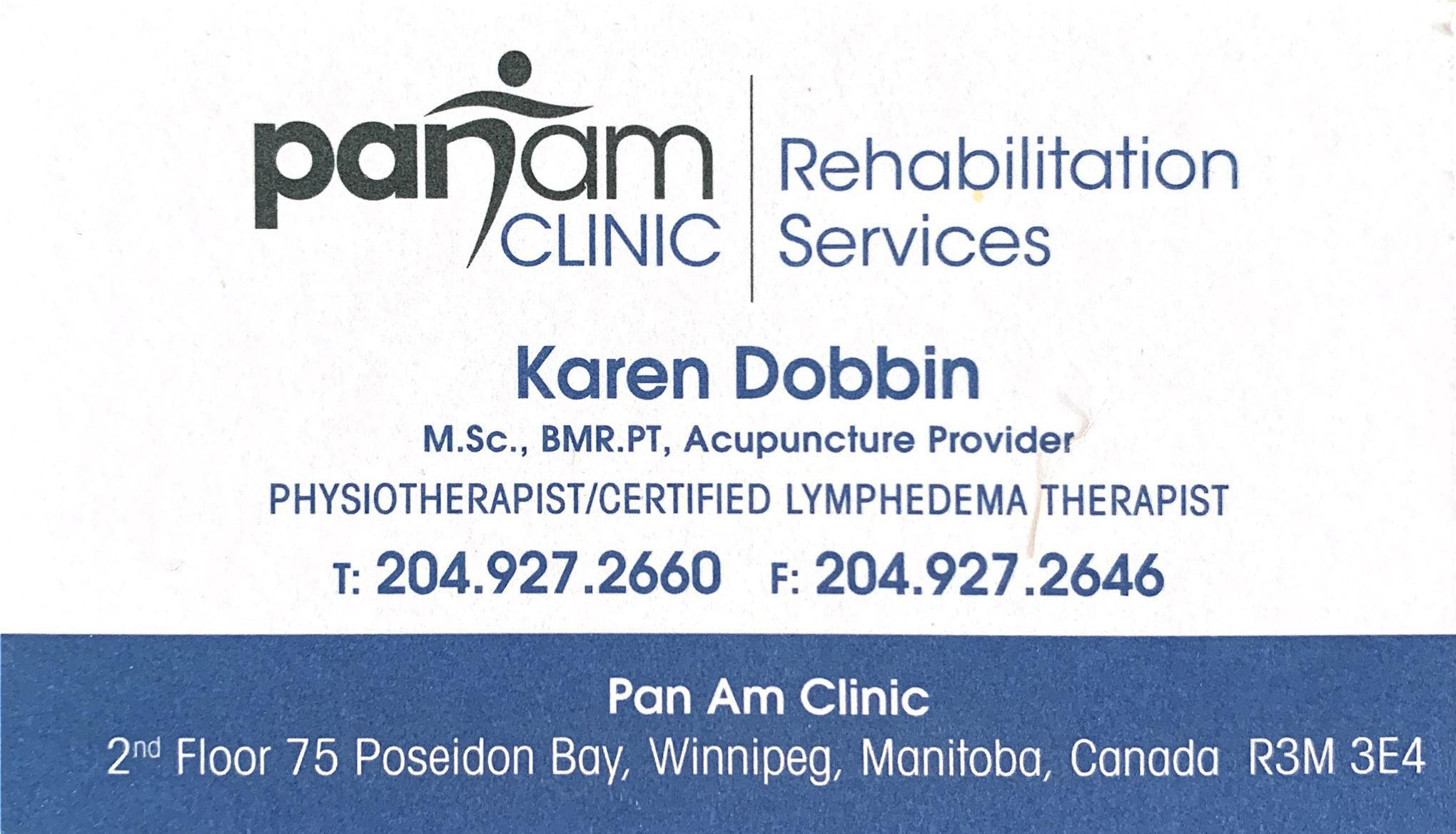 Pan Am Clinic - Karen Dobbin