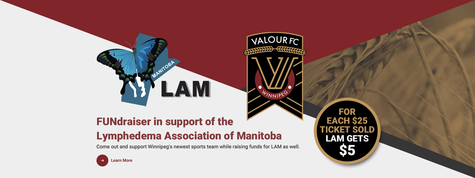 Valour FC FUNdraiser in support of the Lymphedema Association of Manitoba